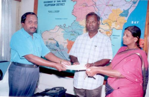 Best Panchyat president Award for LMW President by District Collector