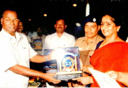 Best Resourse person Award for PMD President by DIG Thilagawathy IPS